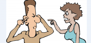 He won't listen--She's frustrated and wants him to change